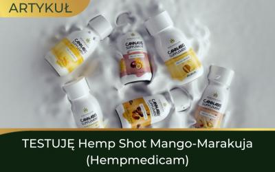 TESTUJĘ Hemp Shot Mango-Marakuja (Hempmedicam)